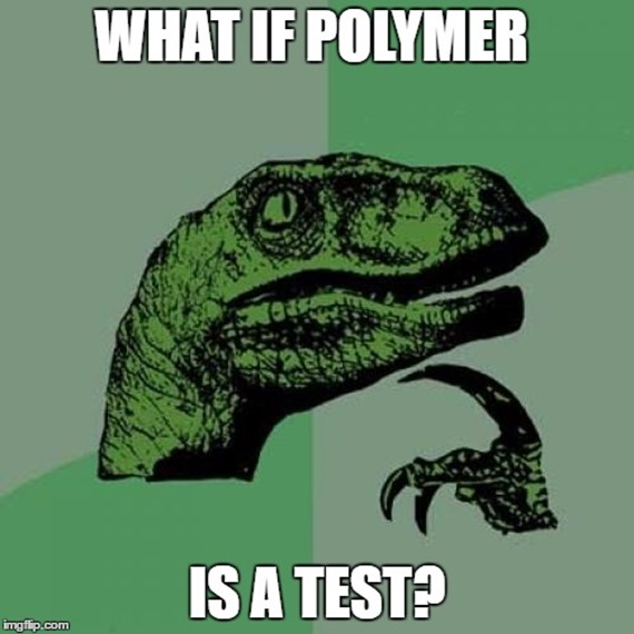 What if Polymer is a test