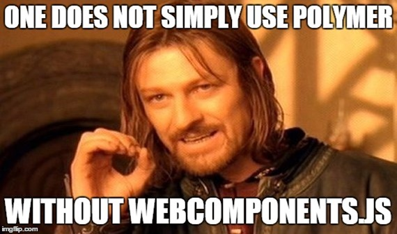One does not simply use polymer without webcomponentjs